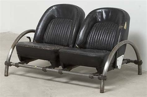 car seat couches ron arad rover two seater sofa 1981 painted