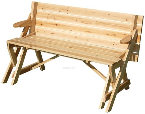 Bench To Picnic Table by Foldable Picnic Table Bench Plans Free
