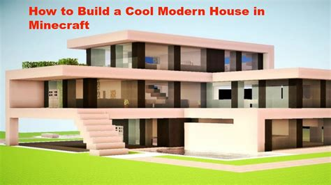 how to build a house in minecraft pe how to build a better cool modern house in minecraft pe v0 12 1 youtube