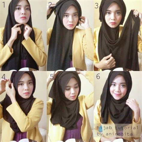 tutorial hijab gaya simple simple hijab tutorial with folds hijab tutorials