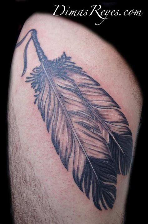 feather tattoo grey kingdom studio tattoos custom realistic black and