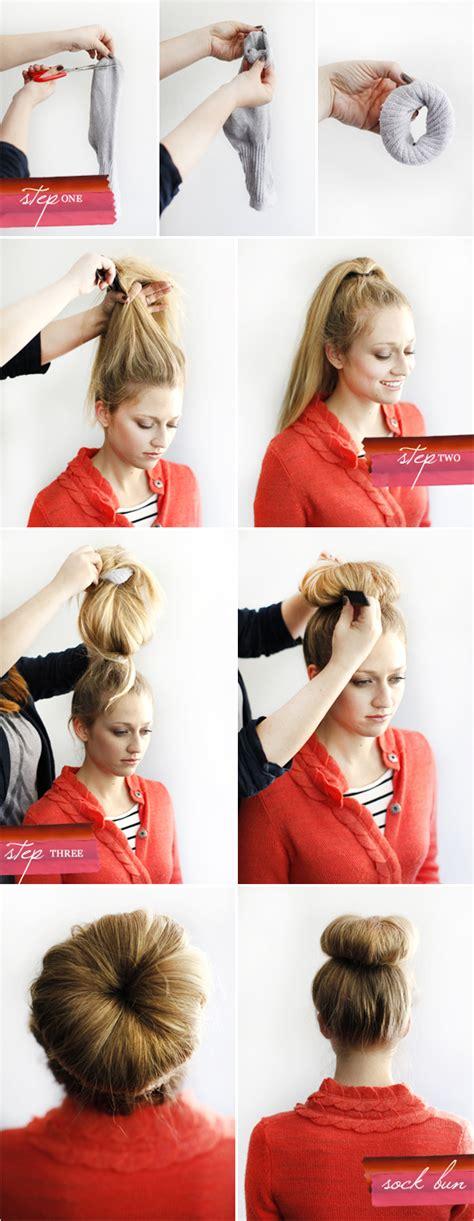 diy sock bun 1011 tutorial diy sock bun 10 11 makeup