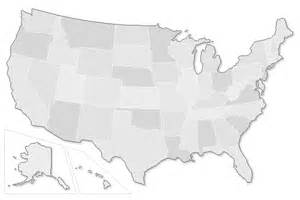 gray map of us political signs caign sign laws in all 50 states
