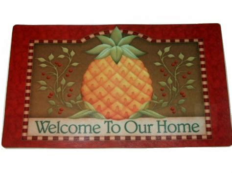 welcome comfort tropical pineapple welcome comfort mat
