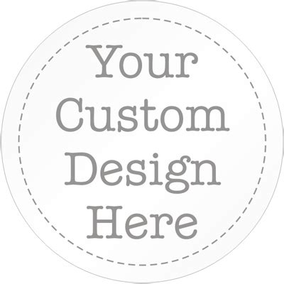 Circular Labels Not Numbered Custom Sticker Template