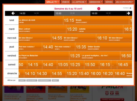 Grille Tv Ma Chaine Sport by Canal Noven S Interactive