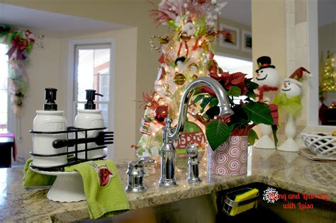 christmas decorations for kitchen cabinets decorating kitchen for christmas kitchen loversiq