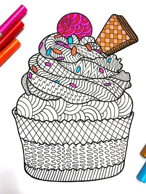 zentangle pattern books pdf cupcake pdf zentangle coloring page pdf etsy and doodles