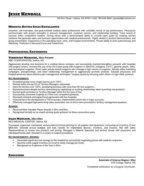Sles Of Sales Resumes by Sales Resume Sle Free Resumes Tips