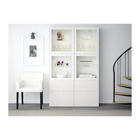 besta ikea vitrine best 197 storage combination w glass doors white selsviken