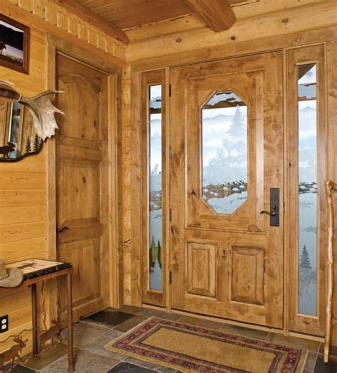Log Cabin Interior Doors Island Park Log Home Cabin By Precisioncraft