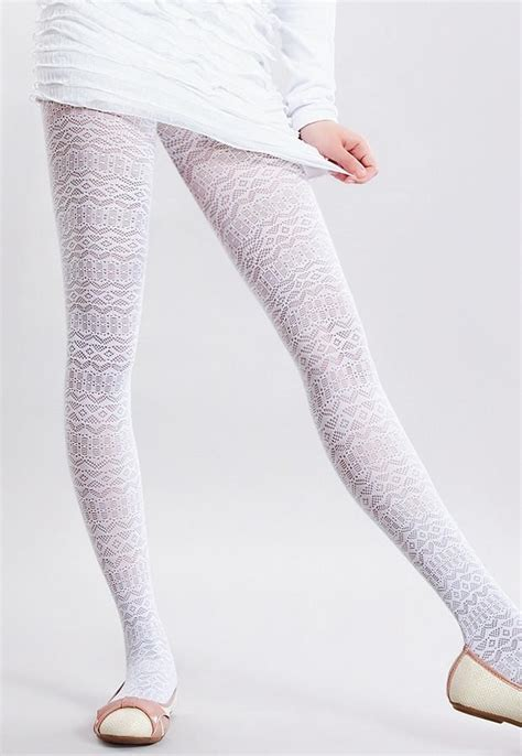patterned lace tights sandy geometric patterned lace girls tights by giulia