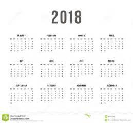 Colombia Calendrier 2018 Calendrier 2018 Sur Le Fond Blanc La Semaine Commence