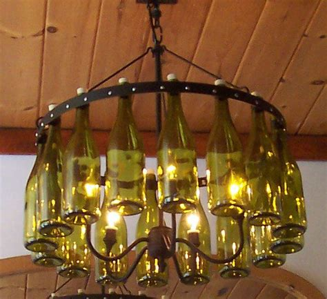 Wine Bottles Chandelier Wine Bottle Chandelier Neat Ideas