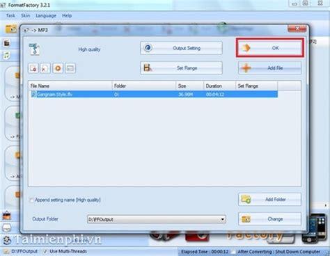 format factory khong chuyen doi duoc format factory 3 3 1 phần mềm chuyển đồi 226 m thanh video