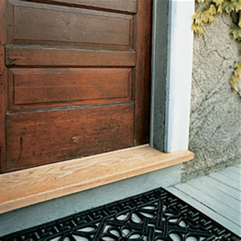 Wooden Exterior Door Sills Replacing A Threshhold House Magazine Doors And Magazines
