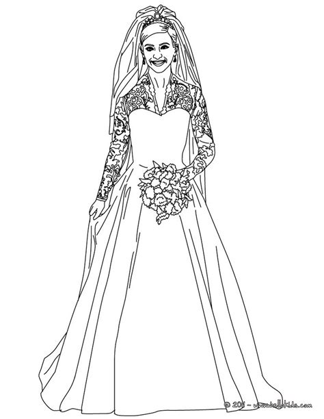 kate middleton s royal wedding dress coloring pages