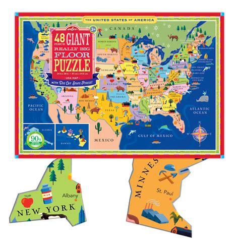 usa map giant floor puzzle sunshine sam