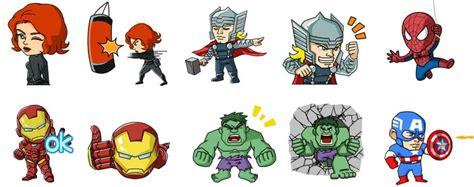 imagenes epicas de marvel stickers de wechat con los s 250 per h 233 roes de marvel gratis
