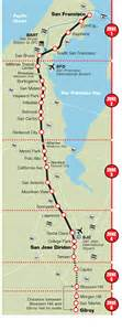 San Francisco Caltrain Map by Getting Around The Bay On Public Transportation San