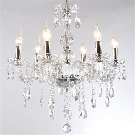 bedroom ceiling chandeliers discount 5 6 bulb european candle crystal chandeliers