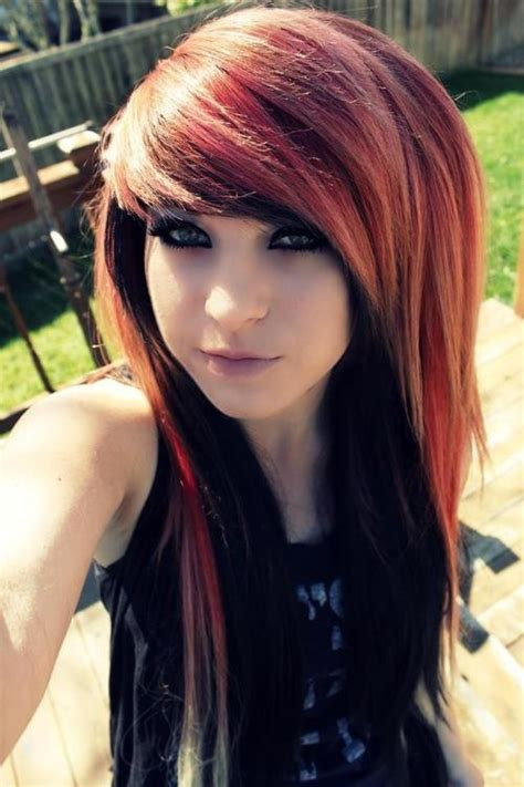 emo chick hairstyles latest dye shaded new emo girls hairstyle ideas