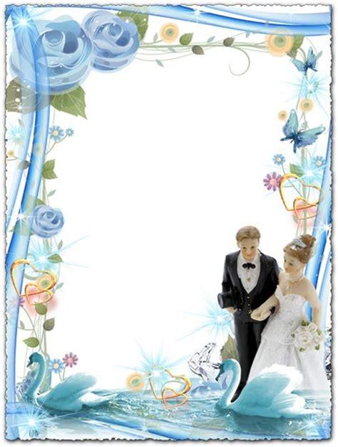 photoshop frame  blue design