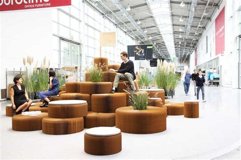 space seating molo have created a variety of public seating areas that