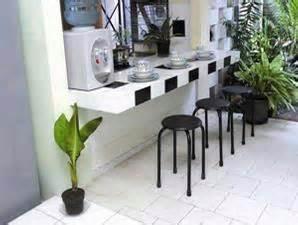 Meja Makan Keramik meja beton yang simpel molin sarana bangunan