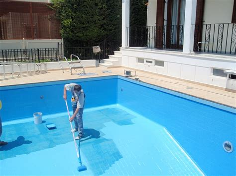 bermuda commercial epoxy swimming pool paint project aqua