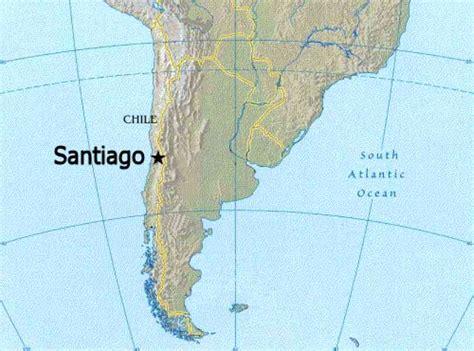 santiago chile on world map santiago chile map