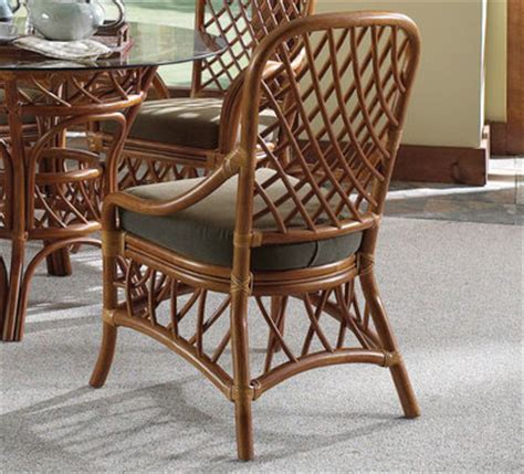 Wicker Indoor Dining Chairs South Sea Rattan Antigua Indoor Dining Side Chair Modern Wicker Llc