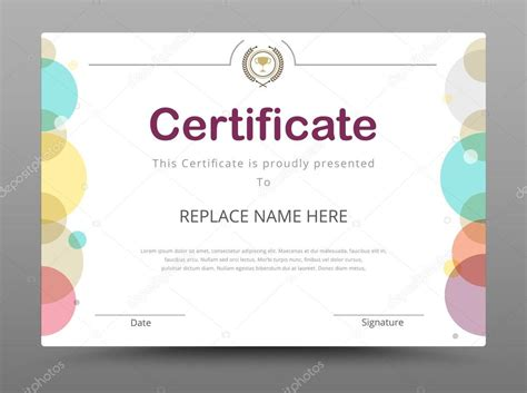 elegant certificate template business certificate formal