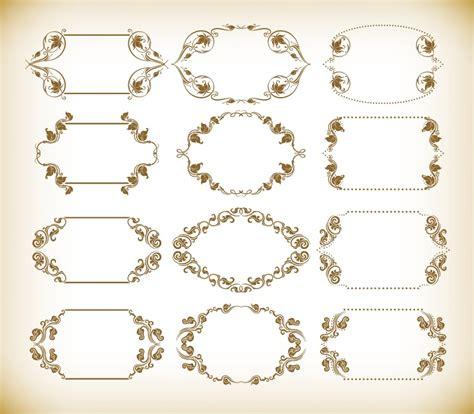 vintage retro frames vector set free vector graphics