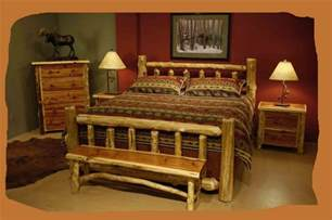bedroom cheap rustic log furniture custom made montana