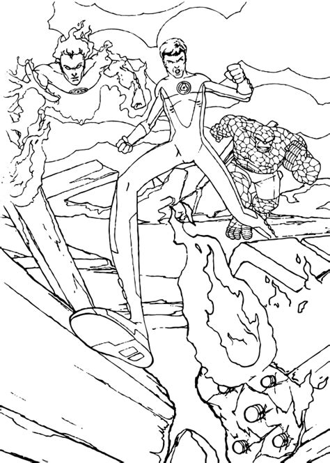 Fantastic 4 Coloring Pages by The Thing Coloring Pages Fantastic Four Grig3 Org