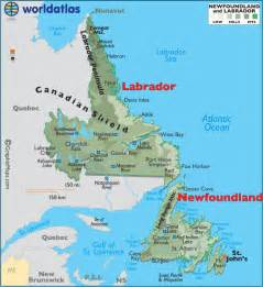 newfoundland map canada newfoundland and labrador canada large color map
