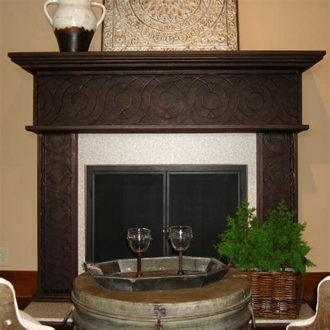 Iron Fireplace Mantel by Bago Luma Concentric Iron Mantel Co42 2