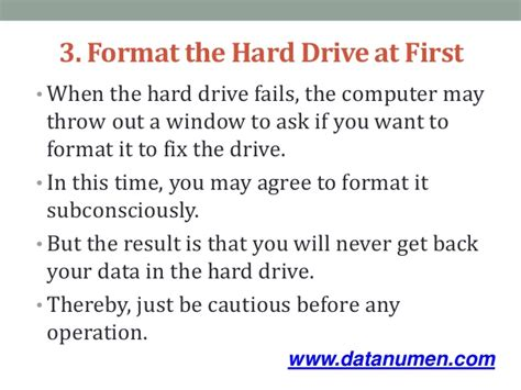 format hard disk by mistake 5 main mistakes in hard drive data recovery