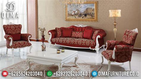 Sofa Tamu Duco Mewah sofa ruang tamu mewah minimalis jepara terbaru cat duco putih emas df 0439 dima furniture jepara