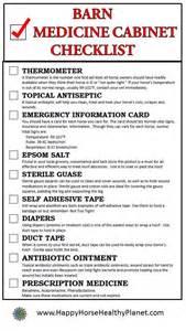 horse barn medicine cabinet checklist ecoequine
