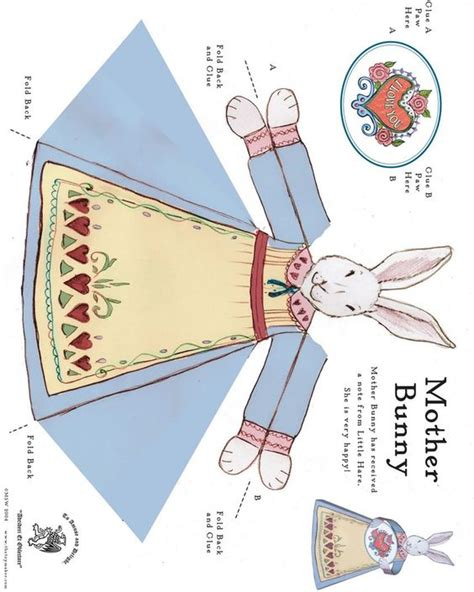 printable paper easter crafts free printable easter bunny paper toy free printables