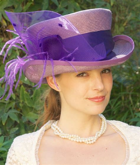 kentucky derby hat womens lavender straw violet purple