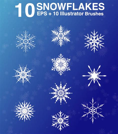 snow pattern brush image gallery snowflake eps