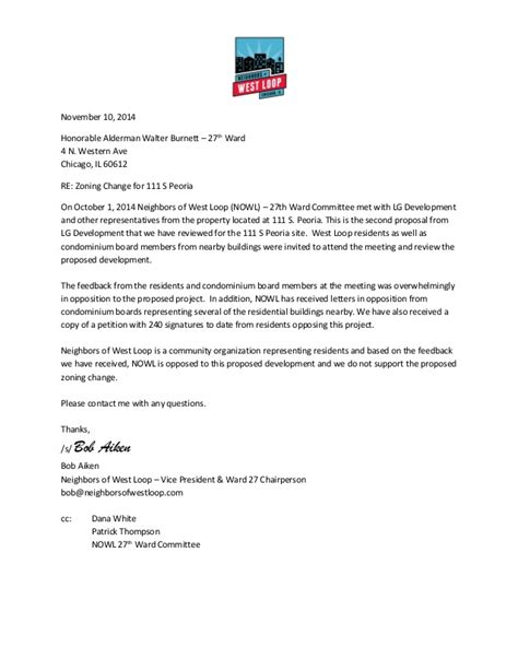 Response Letter To Offer Neighbors Of West Loop 111 S Peoria Response Letter