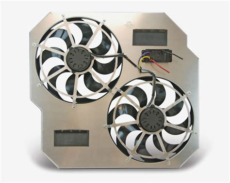 flex a lite adjustable electric fan controllers flex a lite direct fit dual electric radiator fan with