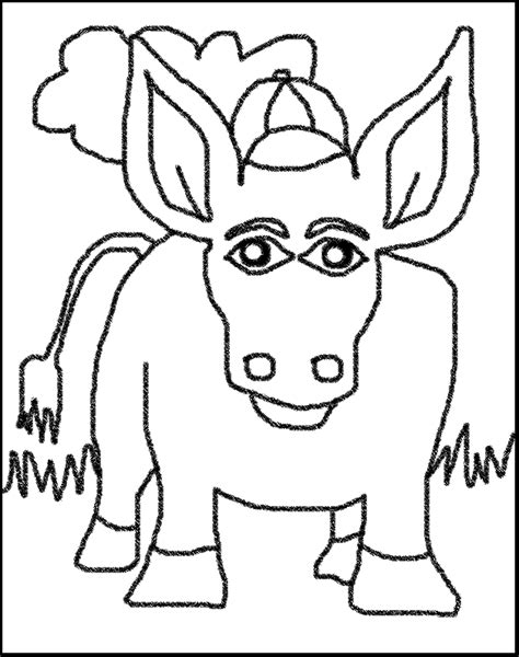 donkey coloring pages preschool printable donkey animal coloring page for preschool