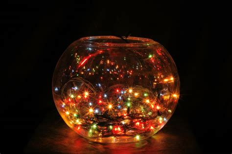 christmas lights in fish bowl christmas decor i love