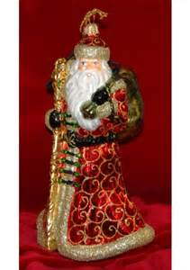 far east santa polish glass christmas ornament glass personalized ornaments by russell rhodes