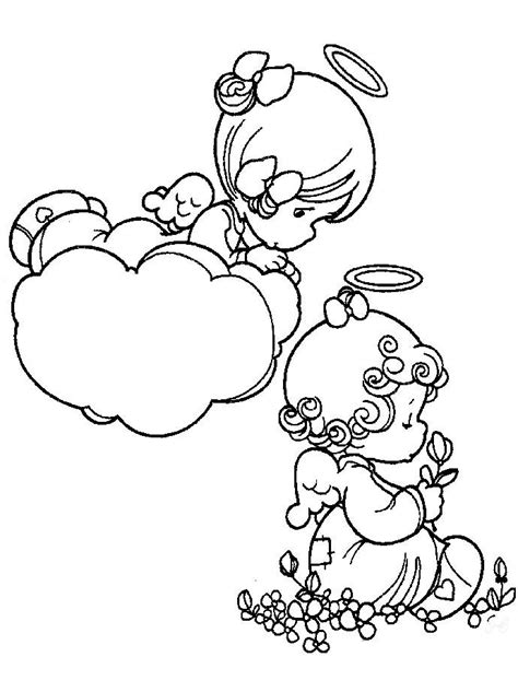 coloring pages with angels precious moments angel coloring pictures precious